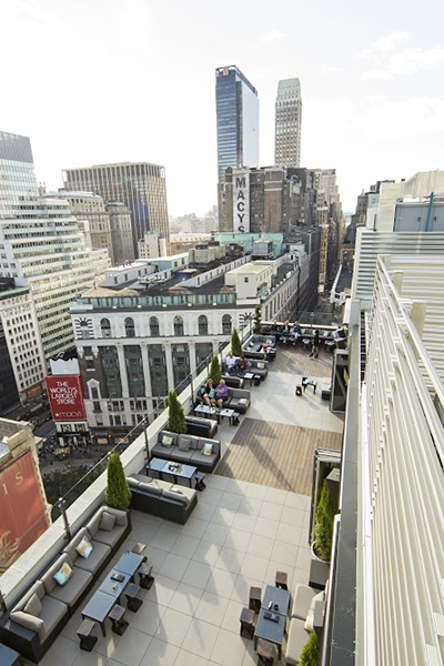 A view to a thrill monarch rooftop lounge for 1271 6th avenue 35th floor new york ny 10020