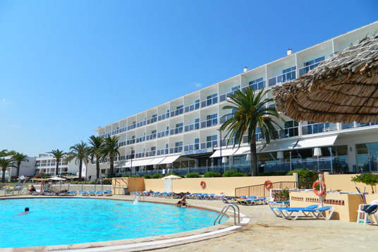 Hotel Pool Discovering Ibiza Spain
